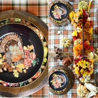 A Harvest of Blooms + Harvest Pumpkin Turkey Tablescape