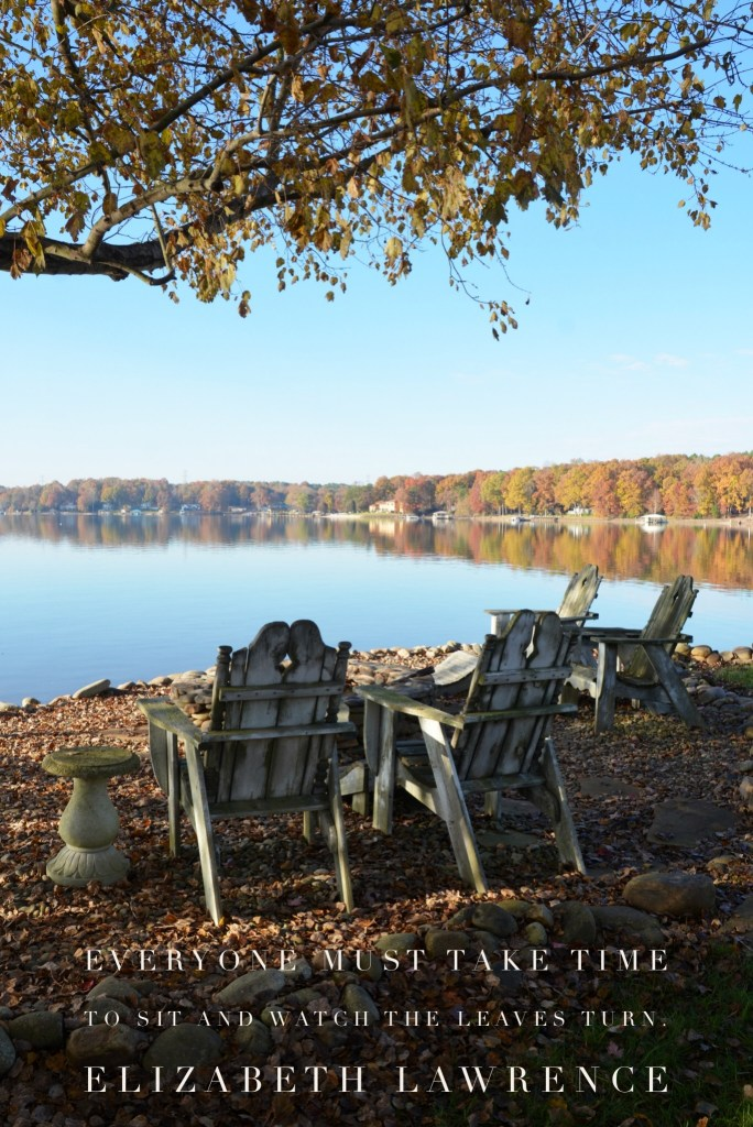 Everyone musttake time tosit and watch the leaves turn. ― Elizabeth Lawrence | ©homeiswheretheboatis.net