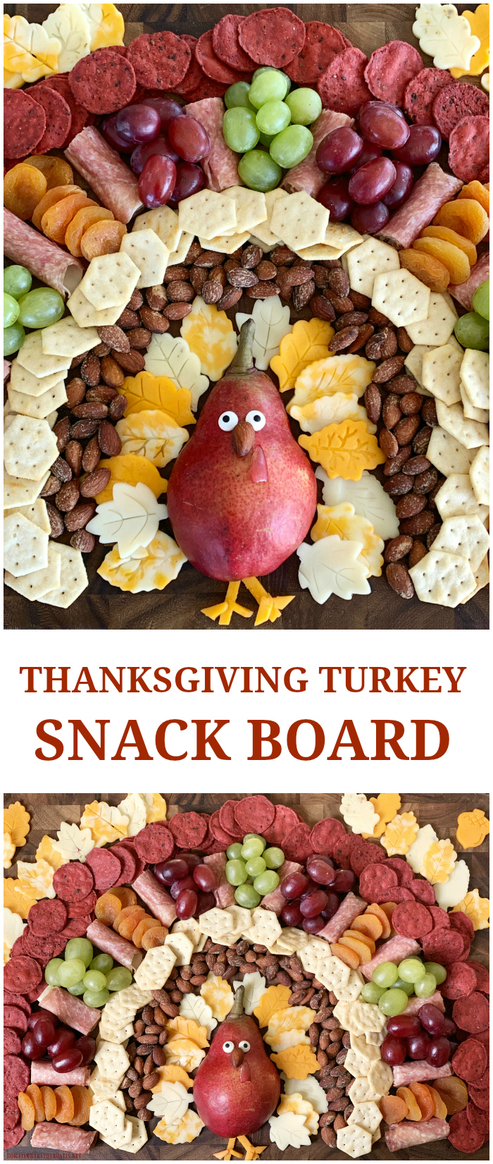 Turkey Snack Board for Thanksgiving | ©homeiswheretheboatis.net #thanksgiving
