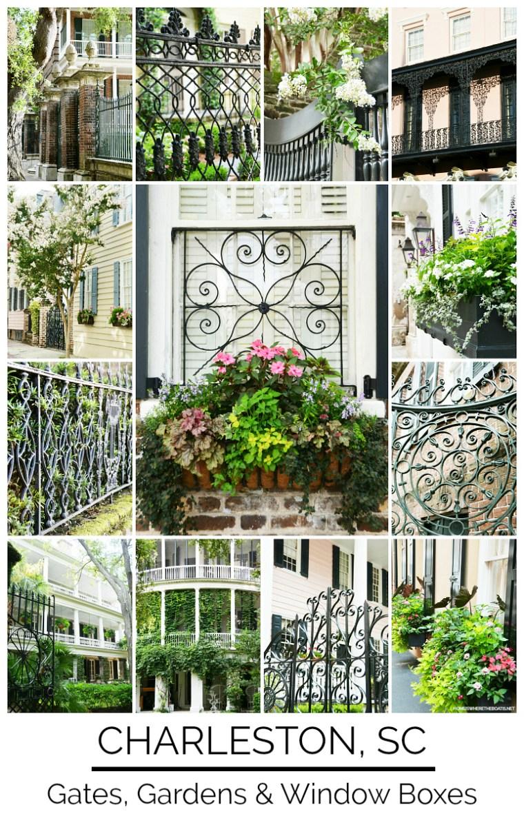Gates, Gardens and Window Boxes of Historic Charleston, South Carolina | ©homeiswheretheboatis.net #gates #windowboxes #gardens #Charleston