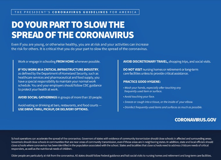 Do your part to slow the spread of COVID-19.