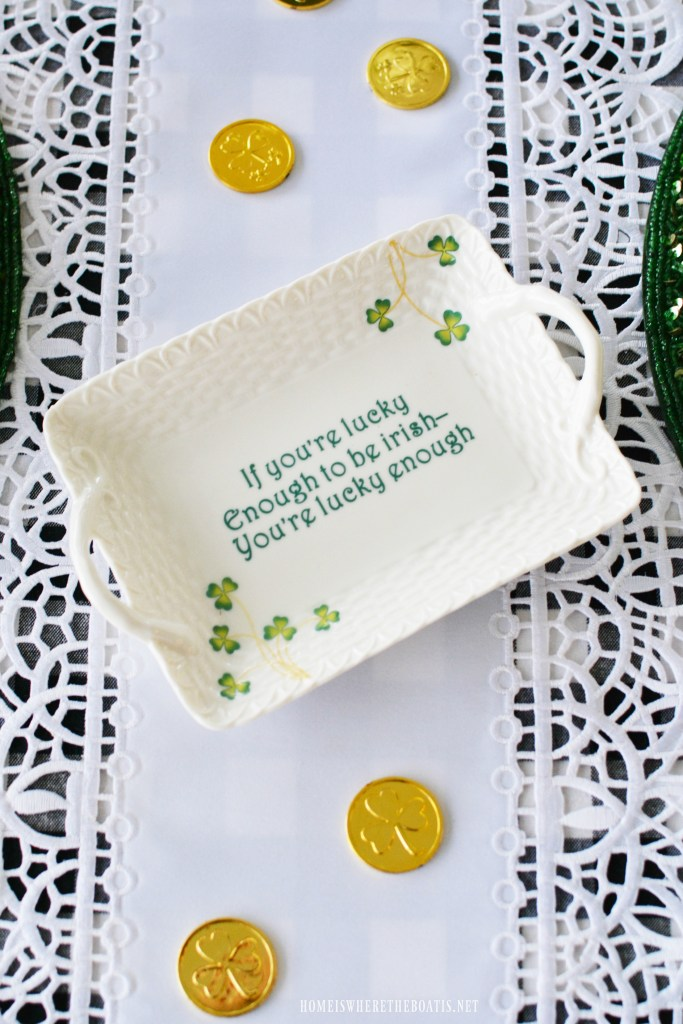 If you're lucky enough to be Irish, you're lucky enough! | ©homeiswheretheboatis.net #stpatricksday #irish
