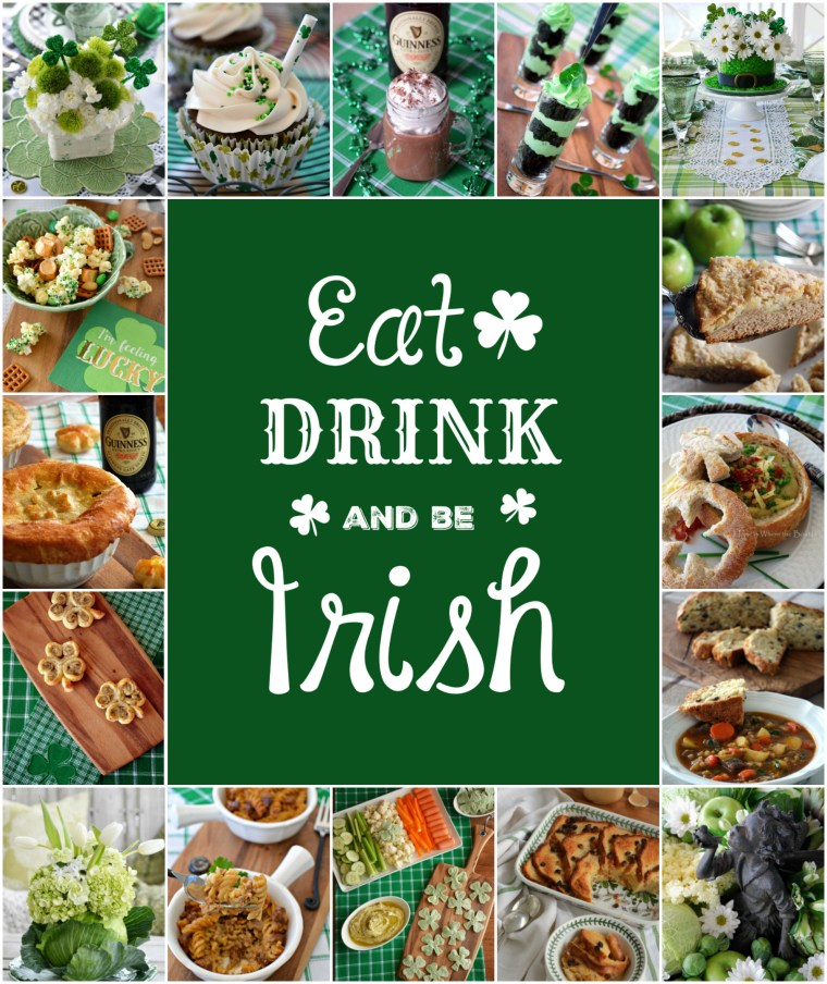 St. Patrick's Day recipes and inspiration from the kitchen to the table |  ©homeiswheretheboatis.net #stpatricksday #recipes #tablescapes #irish