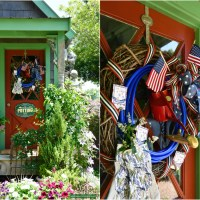 DIY Patriotic Wreath for the Potting Shed