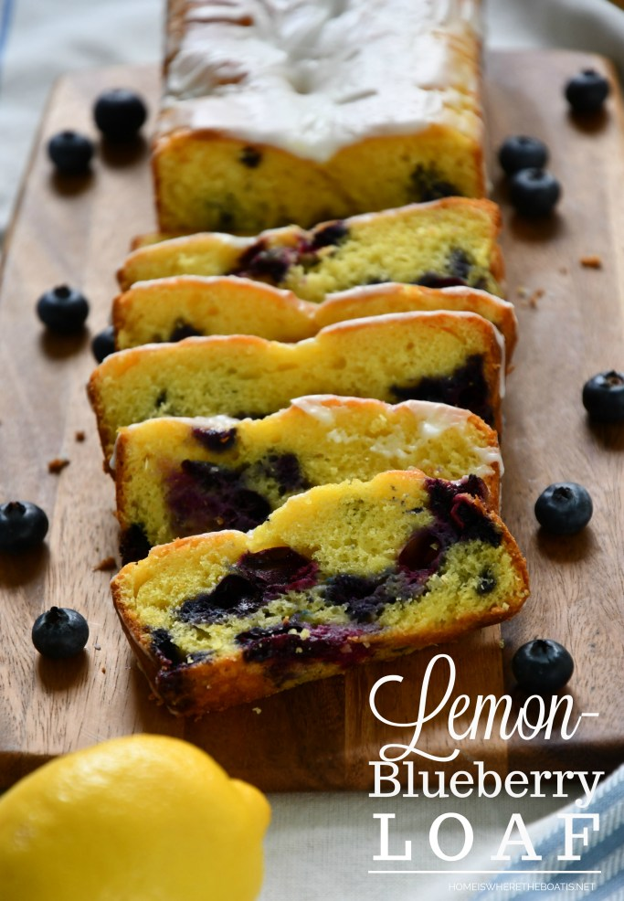 Lemon-Blueberry Loaf | ©homeiswheretheboatis.net #cake #easy #recipes #lemon #blueberry