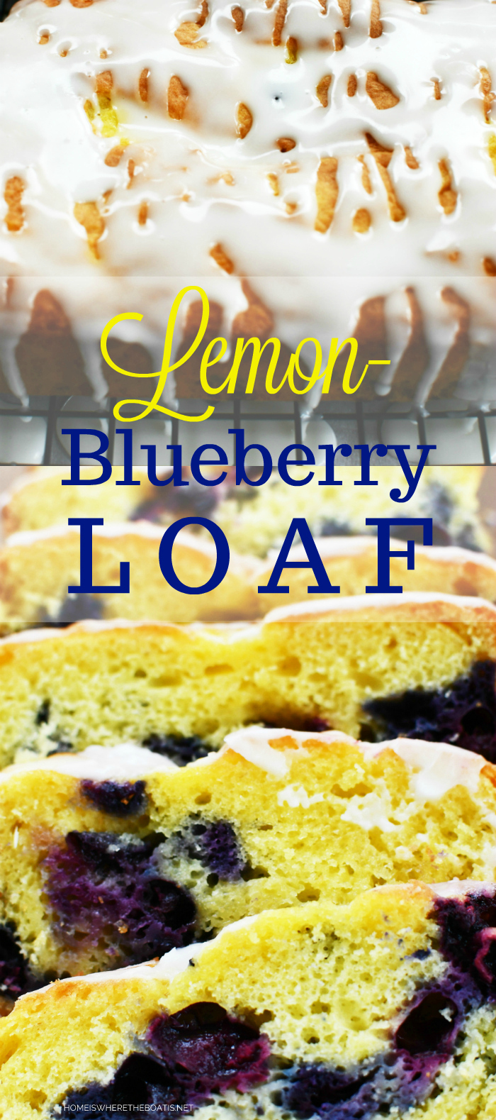 Lemon-Blueberry Loaf with Lemon Glaze | ©homeiswheretheboatis.net #cake #easy #recipes #lemon #blueberry