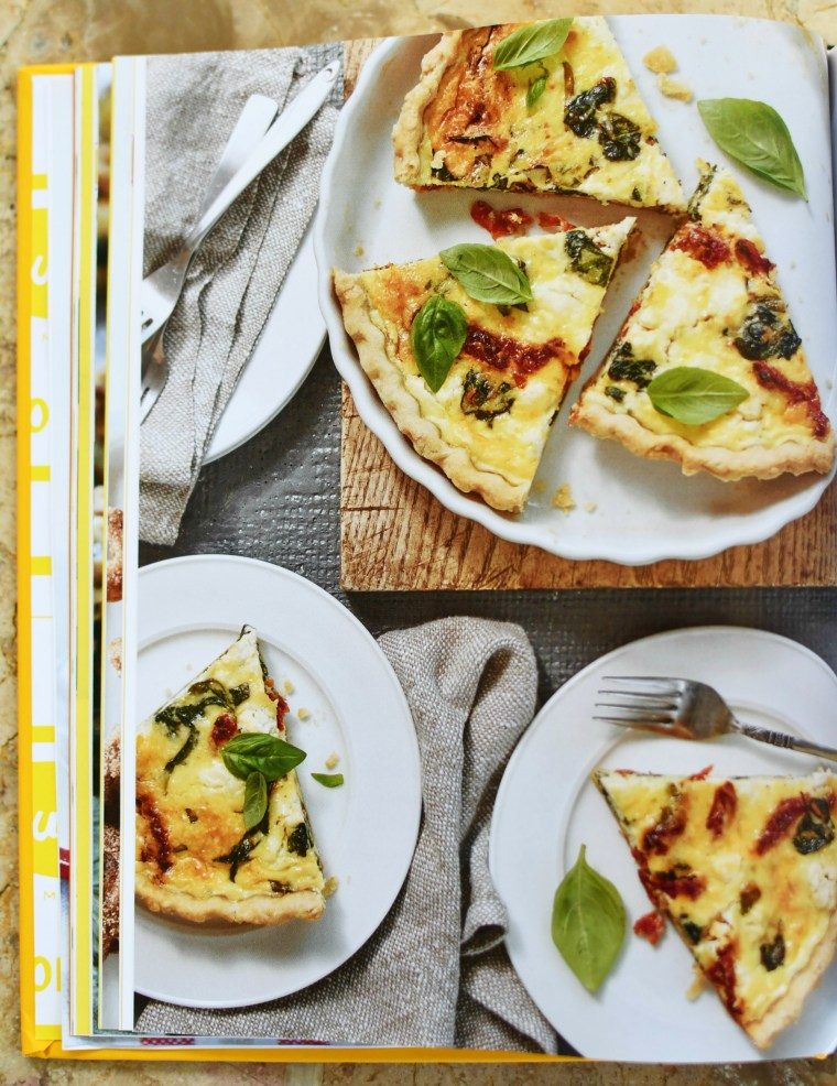 Sun-Dried Tomato, Goat Cheese and Spinach Quiche, The Duke's Mayonnaise Cookbook + Giveaway