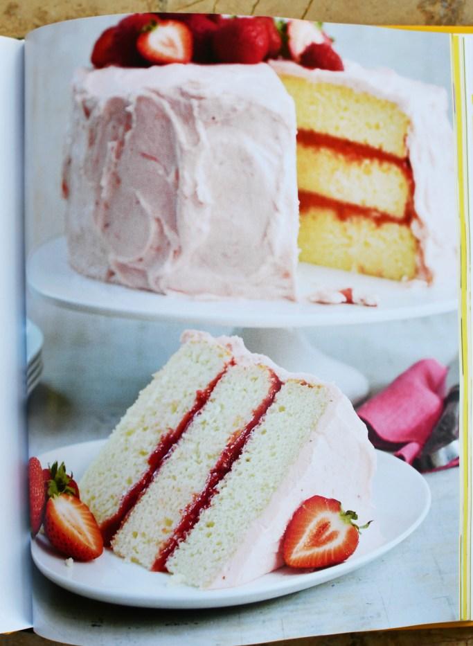 Strawberry-Rhubarb Layer Cake | The Duke's Mayonnaise Cookbook + Giveaway