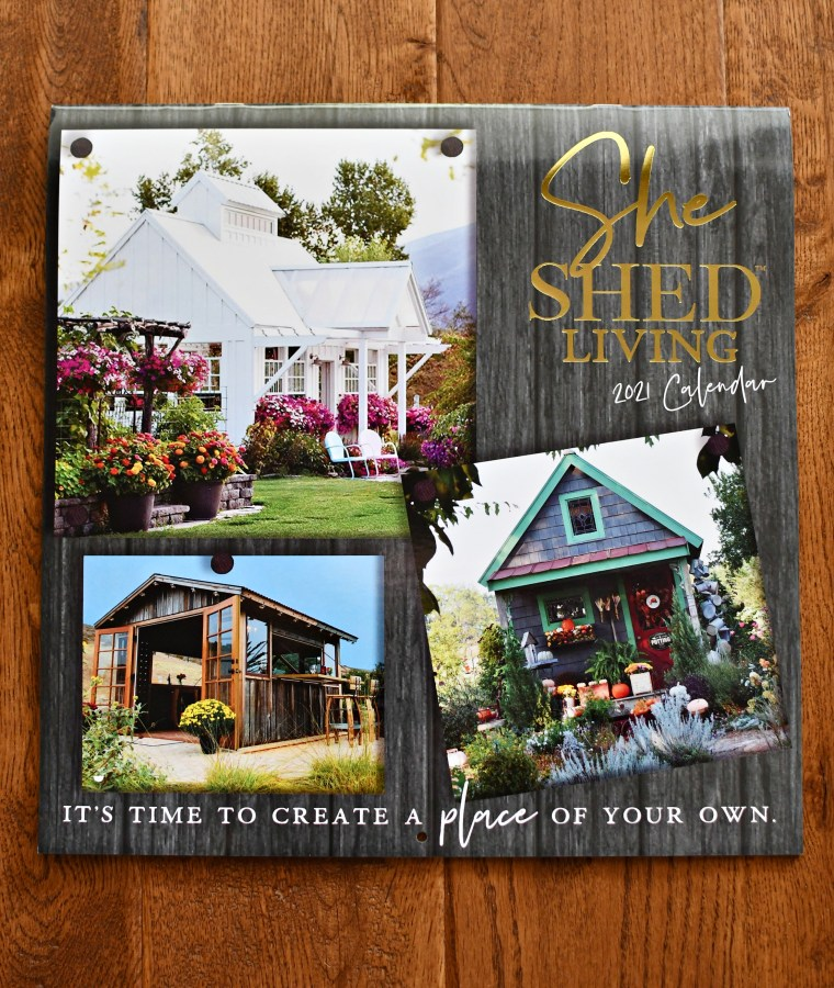 Potting Shed in She Shed Living 2021 Calendar | ©homeiswheretheboatis.net #fall #shed