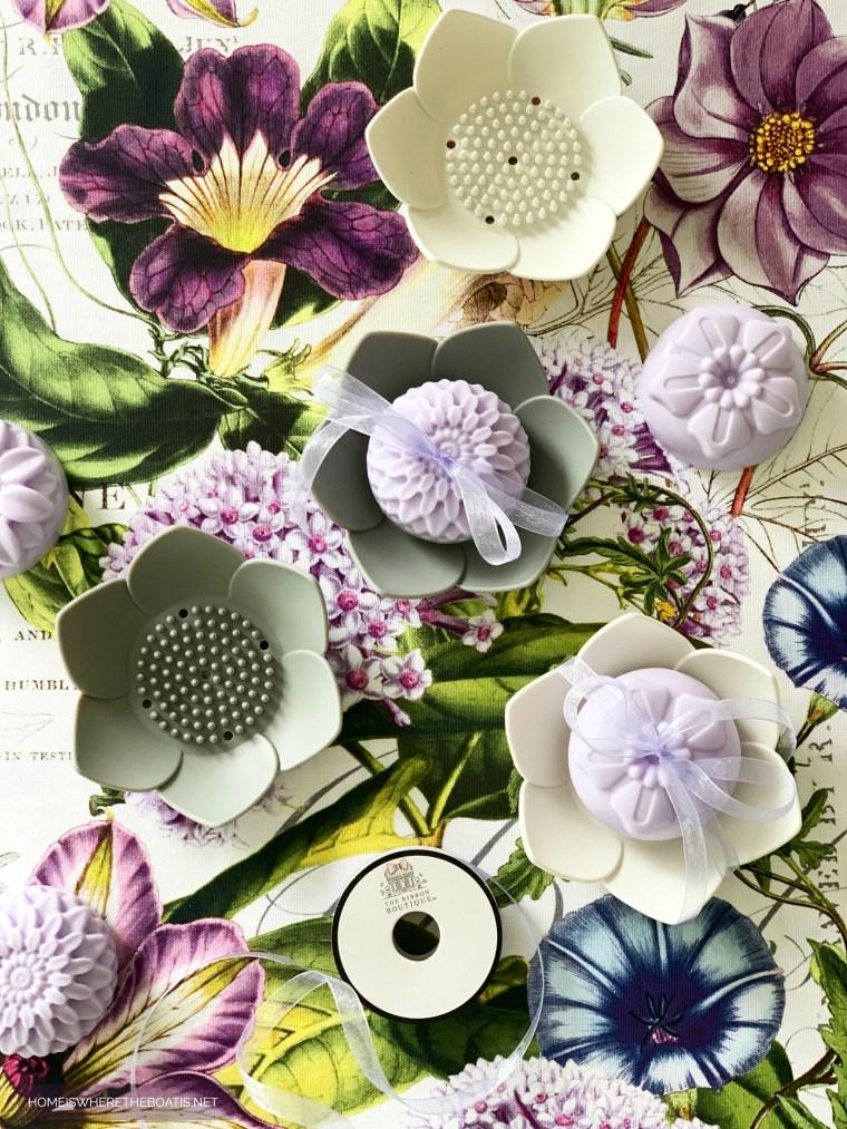 Easy DIY Flower Soap | ©homeiswheretheboatis.net #craft #DIY #flowers #soap #easy #gift