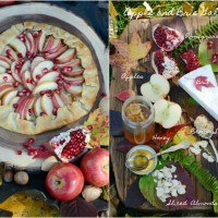 Quick and Easy Apple and Brie Galette with Pomegranate