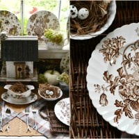 Fall Nesting with Transferware in the Potting Shed
