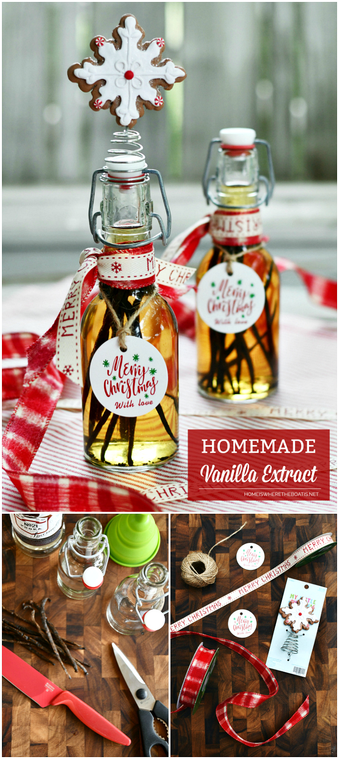 Homemade Vanilla Extract | ©homeiswheretheboatis.net #christmas #recipes #foodgift