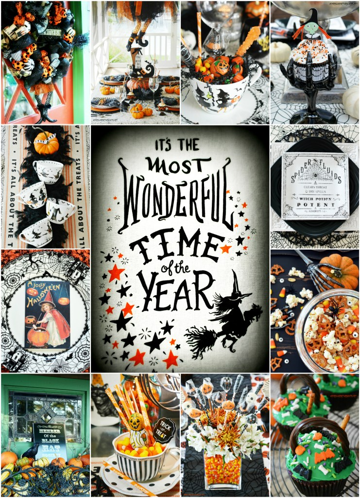 The Most Wonderful Time of the Year Halloween Giveaway! | ©homeiswheretheboatis.net #tablescapes #recipes #Halloween #witch