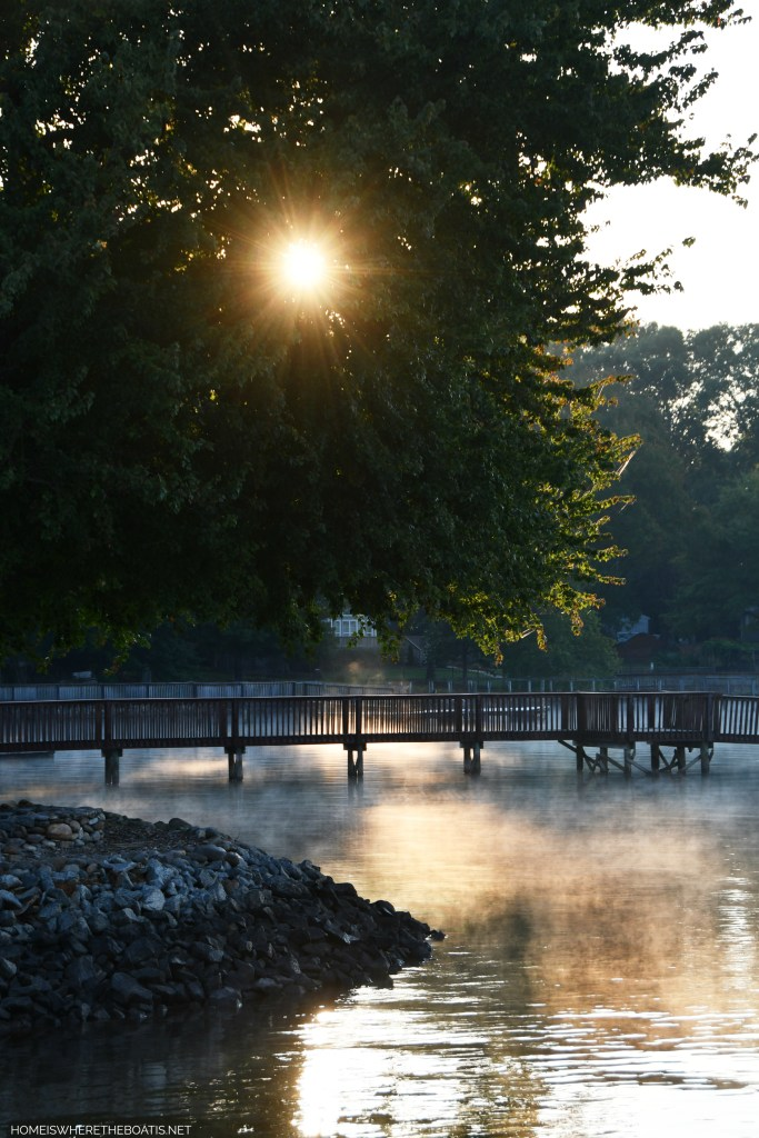 Steam fog lake | ©homeiswheretheboatis.net #lake #fall