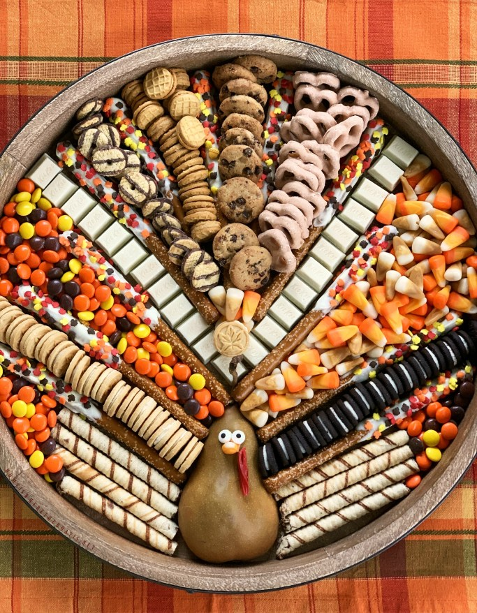 Create a Turkey Dessert Board for easy entertaining to celebrate Thanksgiving or Friendsgiving. Customizable and fun to create, you'll serve up smiles and satisfy everyone's sweet tooth too.