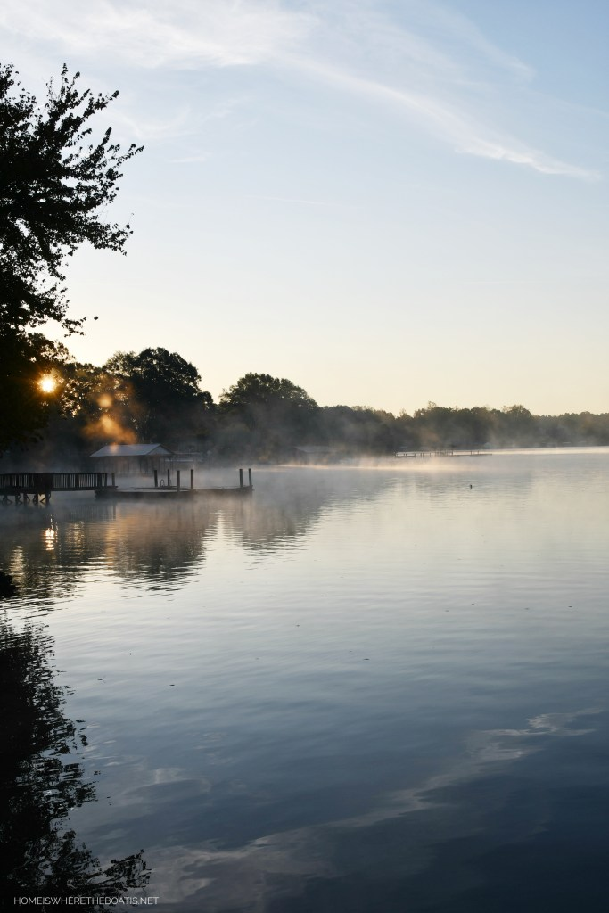Steam Fog Lake Norman | ©homeiswheretheboatis.net #LKN