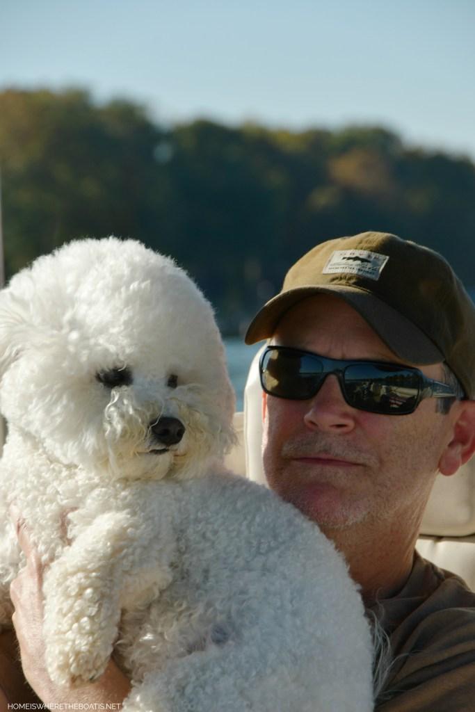 Lola | ©homeiswheretheboatis.net #boat #dog #bichonfrise