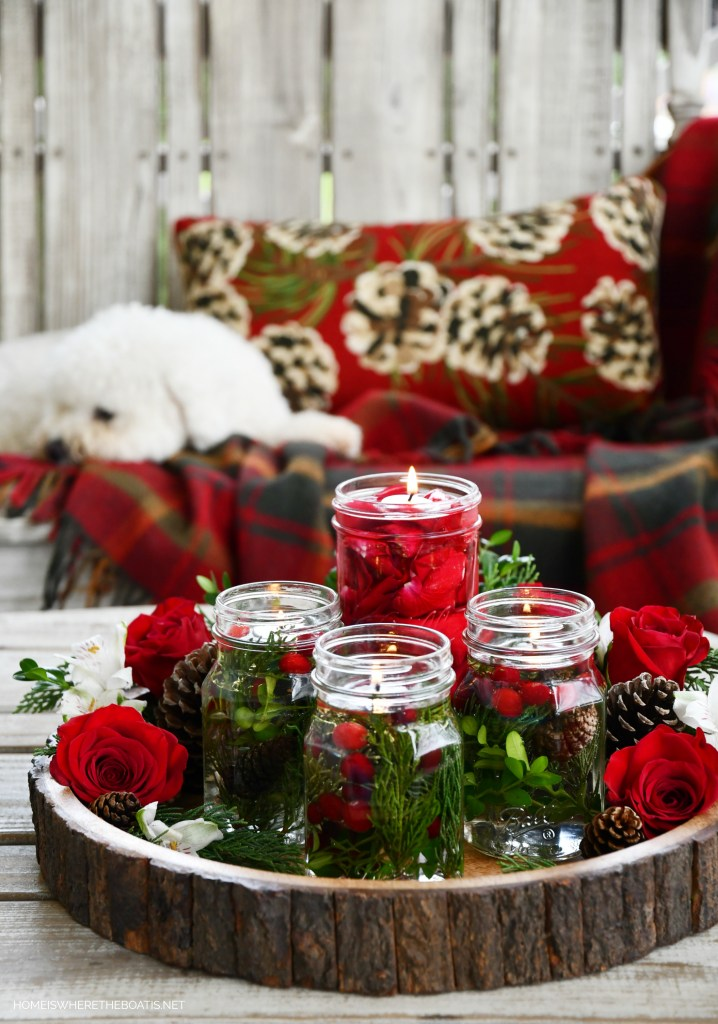 Sophie and DIY Quick and Easy Mason Jar Candle Lamps | ©homeiswheretheboatis.net #masonjars #craft #diy #christmas