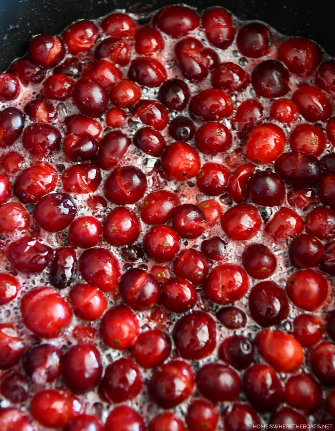 Ina Garten's Make Ahead Cranberry Sauce | ©homeiswheretheboatis.net #thanksgiving #makeahead #recipes #sides #cranberries