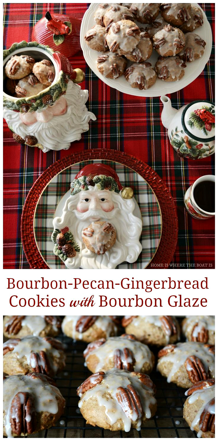 Bourbon-Pecan-Gingerbread Cookies for Santa | ©homeiswheretheboatis.net #cookies #recipes #bourbon