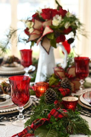 Merry and Bright Christmas Tablescape + Blog Hop