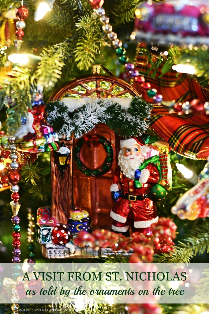A Visit from St. Nicholas as told by the ornaments on the tree | ©homeiswheretheboatis.net #christmas #ornaments #radko #tree