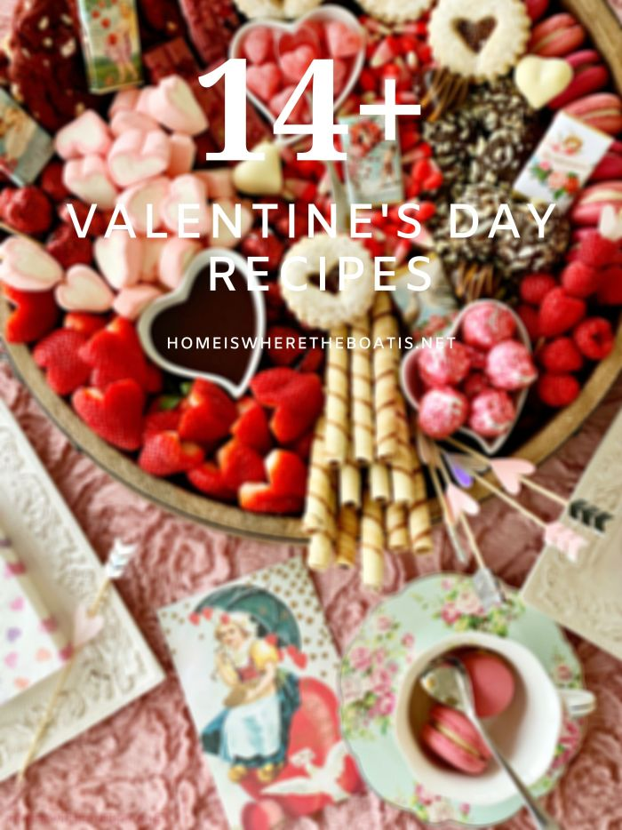 14+ recipes to make your Valentine's Day extra sweet! | ©homeiswheretheboatis.net #ValentinesDay #recipes #nobake #cocktail #handpie #truffle