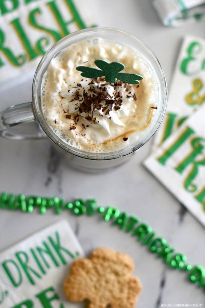 Irish Coffee and Easy Blender Irish Cream   ©homeiswheretheboatis.net #stpatricksday #irish #cocktail #easy #recipe