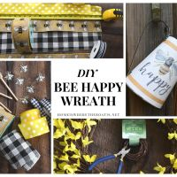DIY 'Bee Happy' Wreath and Happy Earth Day