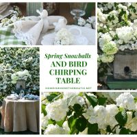 Spring Snowballs and Bird Chirping Table