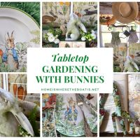 Tabletop Gardening with Bunnies in the Potting Shed