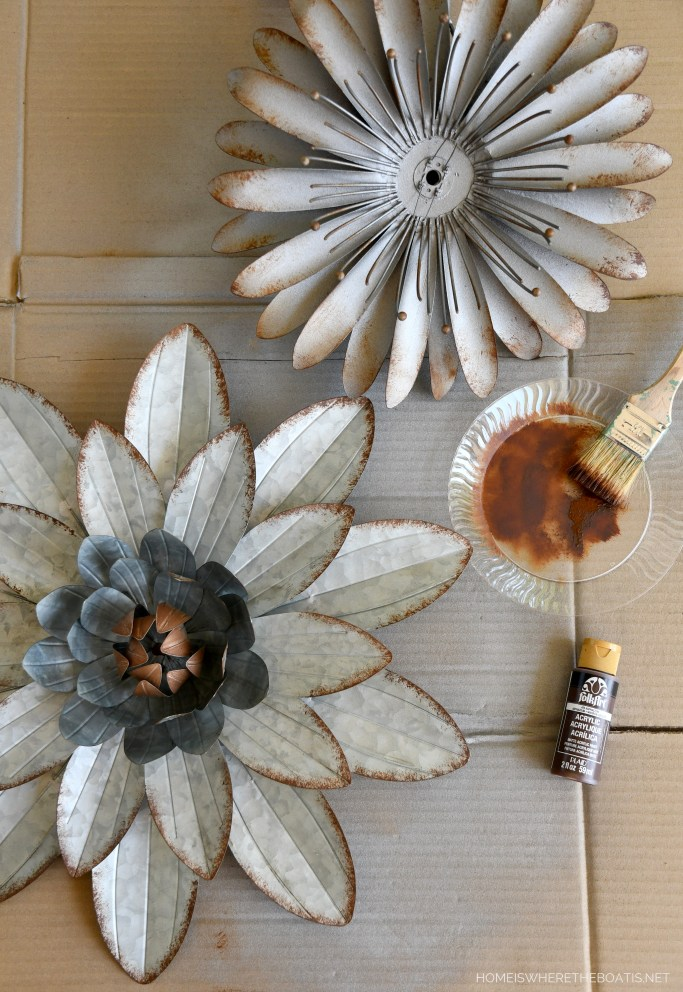 Refresh a tired garden stake with paint | ©homeiswheretheboatis.net #garden #flowers #DIY