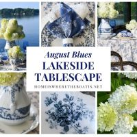 August Blues: Lakeside Table and 'Pitcher Perfect' Limelight Hydrangeas