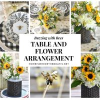 Buzzing with Bees: DIY Flower Arrangement and Summer Tablescape