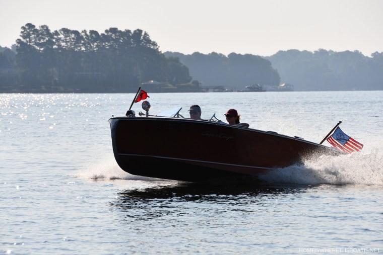 Nautical flag on boat   ©homeiswheretheboatis.net #boating #lake #LKN #flag #4thofjuly