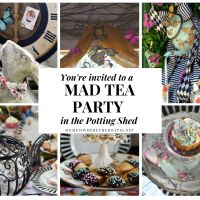 We're All Mad Here:  In the Potting Shed for a Wonderland-Inspired Tea Party