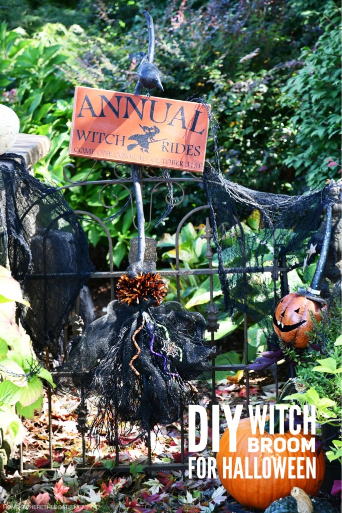 DIY Witch Broom | ©homeiswheretheboatis.net #DIY #halloween