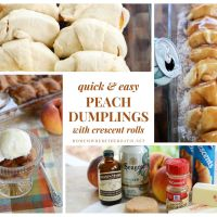 Lazy Days of Summer Dessert: Quick and Easy Peach Dumplings