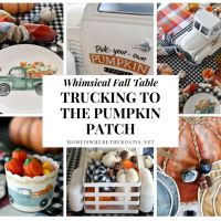 Whimsical Fall Table + Trucking to the Pumpkin Patch