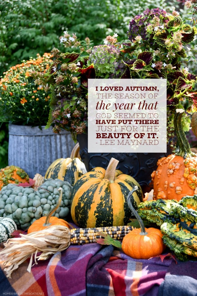 """""""I loved autumn, the one season of the year that God seemed to have put there just for the beauty of it."""" - Lee Maynard 