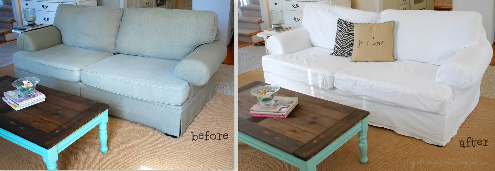 how to make a slipcover for sofa rachel classic natural makeover your furniture with custom slipcovers homejelly i remember this couch