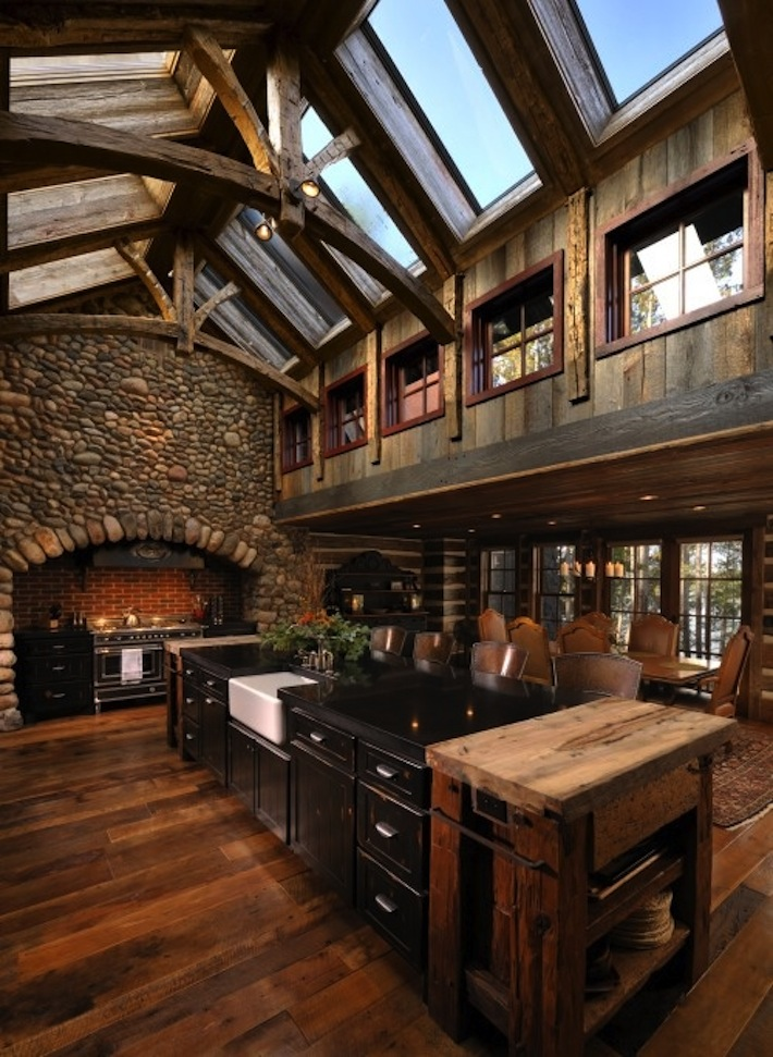 Room Day Farm House Cathedral Ceilinged Kitchen Homejelly