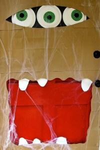 How To Make A Halloween Paper Bag Door Monster : HomeJelly
