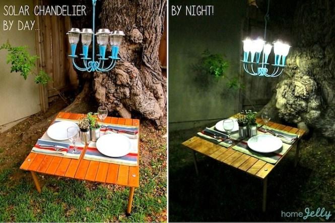 Solar Chandelier By Day Night