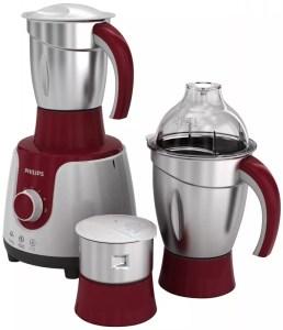 Philips HL7720/00 750 W Mixer Grinder (Red, White, 3 Jars)
