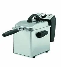 Waring DF55 Professional Mini 2 qts Oil-Capacity Stainless-Steel Deep Fryer