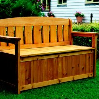 outdoor wooden storage bench plans | Quick Woodworking ...