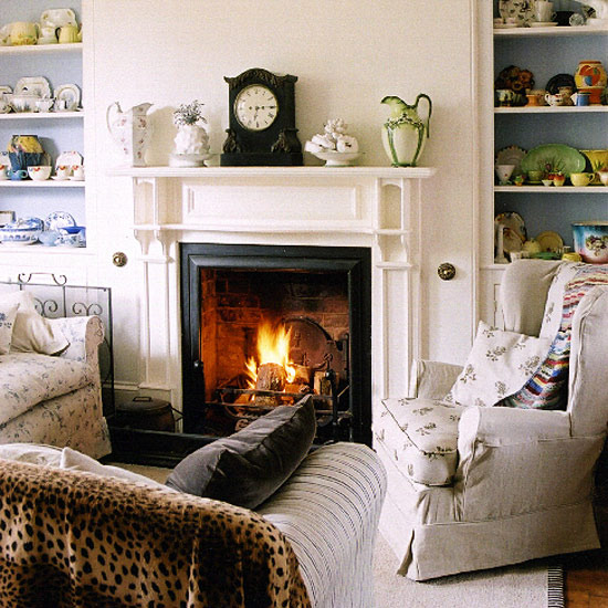 7 white traditional living room ideas 2011 Living room with fireplace  White traditional living room ideas 2011