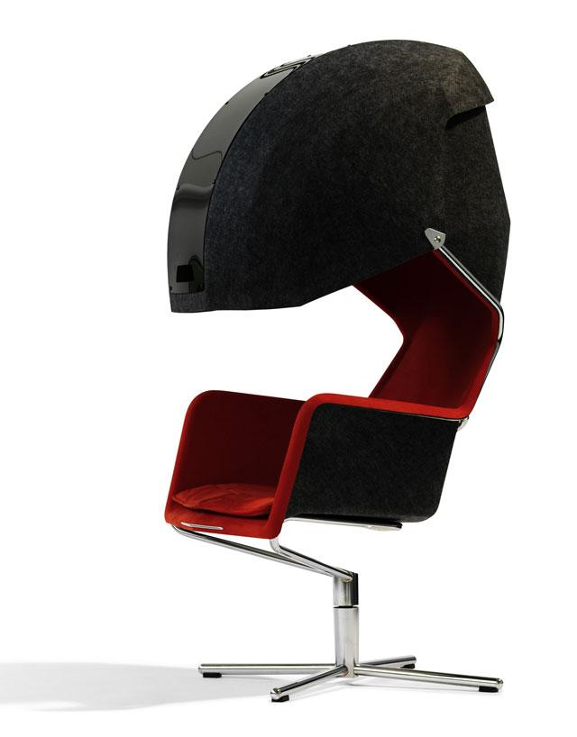 1 chair with hood by borselius design Chair with Hood by Borselius Design